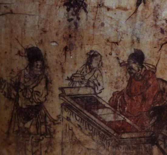 元 《进仓图》 河南省尉氏县后大村元墓壁画