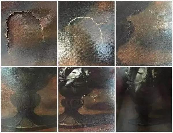 ▲被损坏的保罗·波尔波拉《花》局部