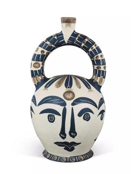 毕加索76岁做的陶器