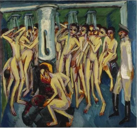 恩斯特·路德维格·基希纳(Ernst Ludwig Kirchner)《炮兵》,1915年作已售21,975,800美元