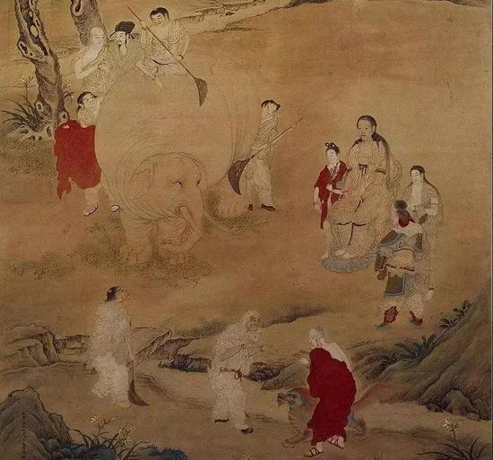 《弘历洗象图》 故宫博物院藏