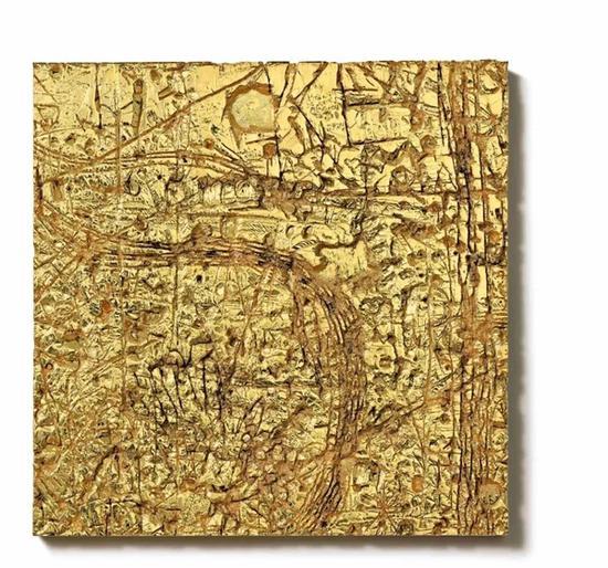 鲁道夫·斯丁格尔《无题》 二〇一二年作 电铸铜、镀镍及金 60 x 60 公分 7,800,000 - 12,800,000港元