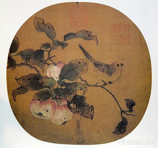 黄筌《苹婆山鸟》台北故宫收藏
