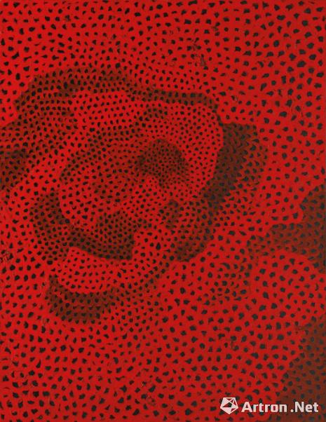 草间弥生 《红色无限网 NO。 2.A.3》 3558.75万港币