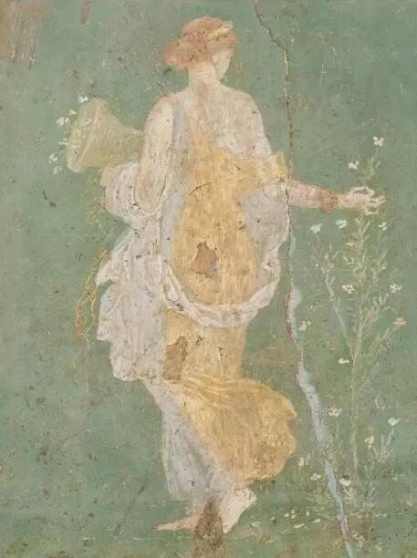 公元 1 世纪庞贝壁画《花神芙罗拉》,