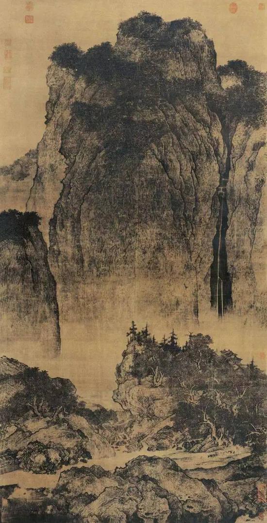 《溪山行旅图》 范宽 206.3 x 103.3 cm 台北故宫博物院藏