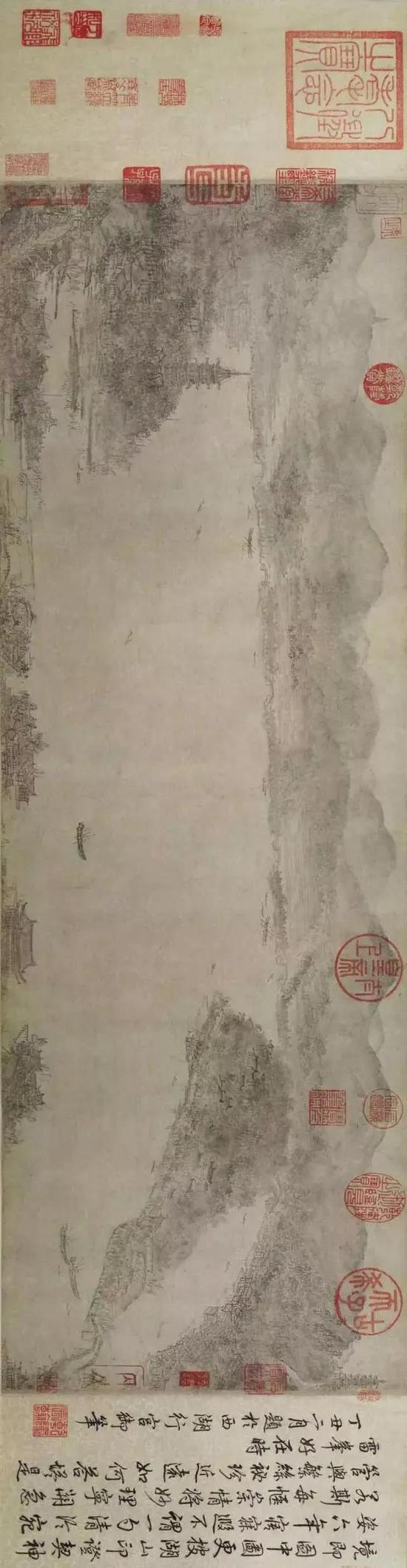 《西湖图卷》 宋 李嵩 上海博物馆藏
