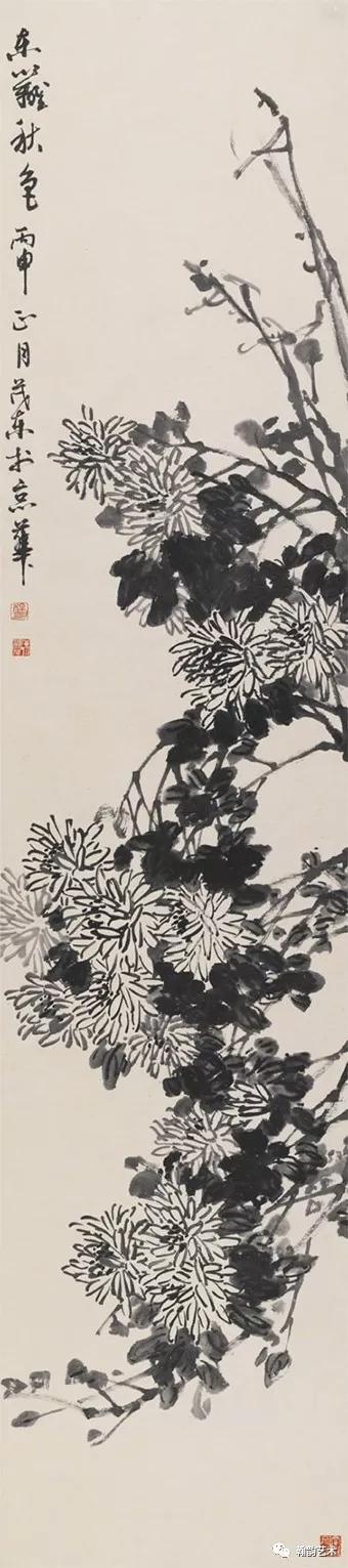 四条屏之菊 纸本245x70