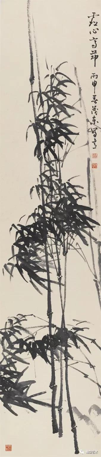 四条屏之竹 纸本 245x70