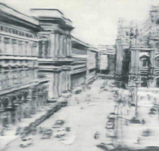 格哈德・里希特《米兰大教堂广场》 1968年