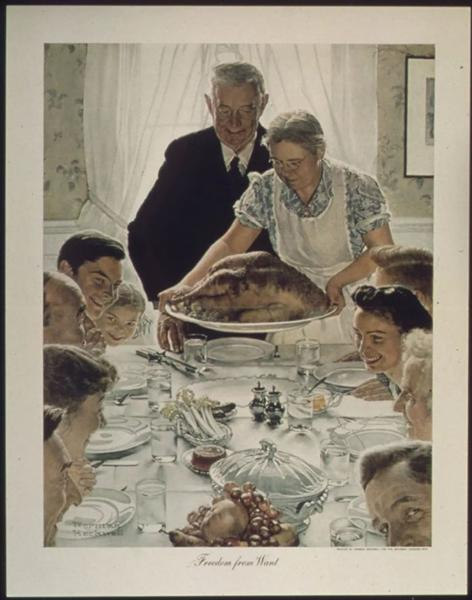 Norman Rockwell,Freedom from want,The Four Freedoms;1943