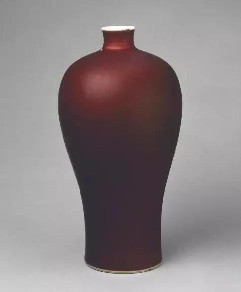霁红釉梅瓶清康熙 故宫博物院