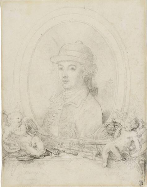 加布里埃尔-雅克·德·圣奥宾,《作为皇太子的路易十六肖像》