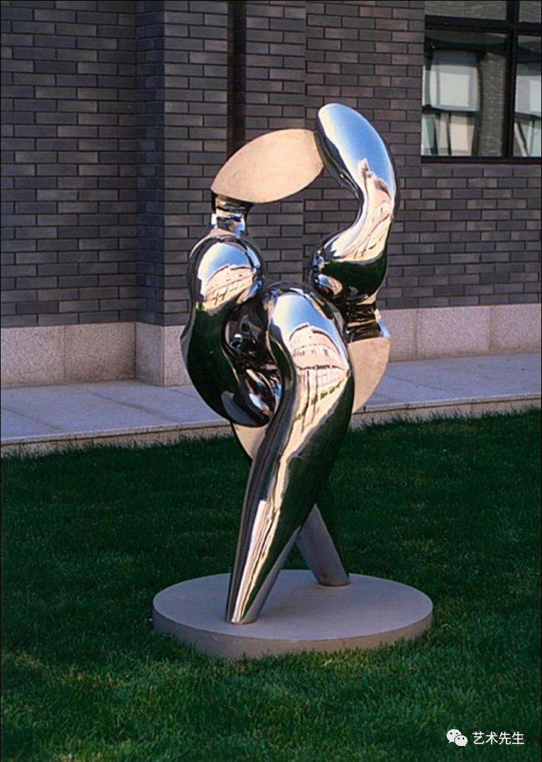 秦璞 《步履》 不锈钢限量890x90x170cm 1998