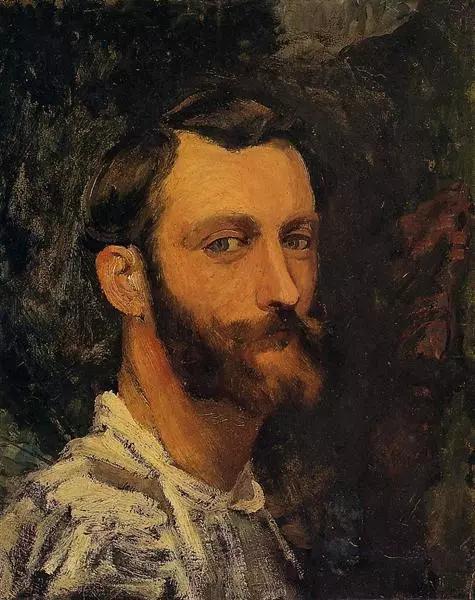 巴齐耶《自画像》,布面油画
