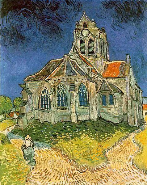 《奥维的教堂》The Church at Auvers,1890