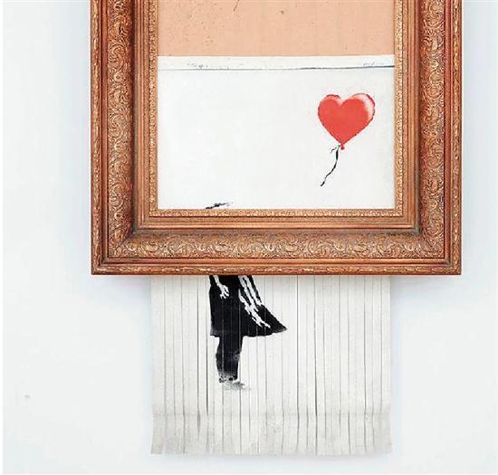 班克斯 垃圾桶中的爱(女孩与气球)