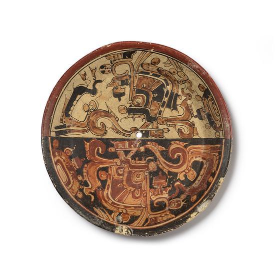 战蛇纹陶盘