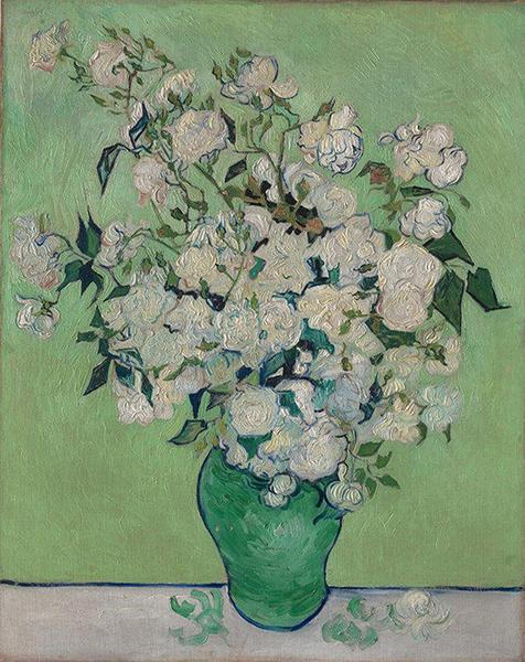 Roses,1890,Vincent van Gogh,大都会艺术博物馆藏
