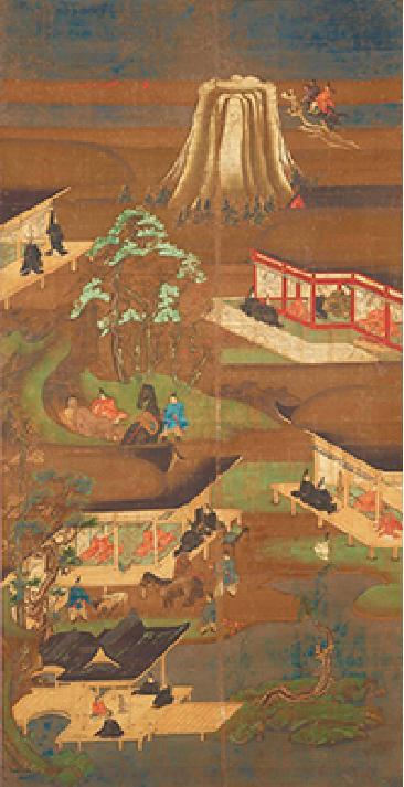 圣德太子画传(7幅中的第6幅)南北朝时代(14世纪)大阪叡福寺藏