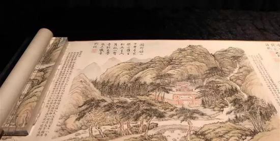 钱维城《台山瑞景》(局部)