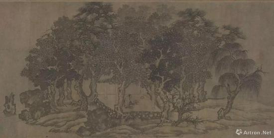 (传)李公麟《摹卢鸿草堂十志图卷》局部 大阪市立美术馆收藏