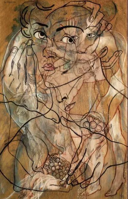 弗朗西斯·皮卡比亚,《阿特拉塔(Atrata)》,油彩、铅笔、布面,1929年作