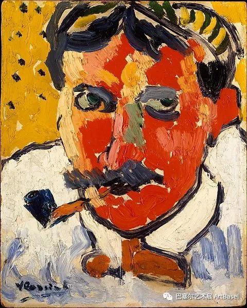 《André Derain (1880–1954)》(1906),Maurice de Vlaminck,图片由大都会艺术博物馆提供