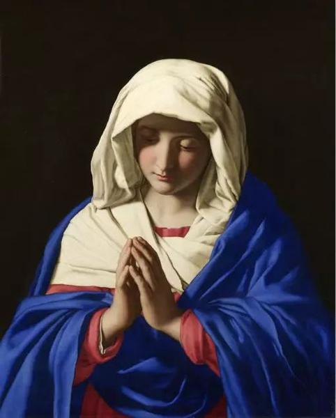 Giovanni Battista Salvi , The Virgin in Prayer, 1640-1650