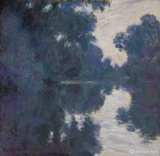 克劳德·莫奈《塞纳河清晨》89.2x92.4cm 布面油画 1896年作