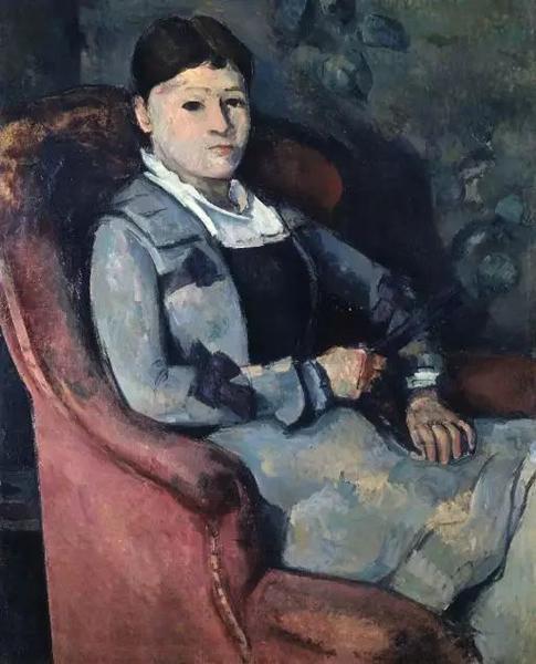 《拿扇子的塞尚夫人》原斯坦因兄妹购藏,1914年后由格特鲁德收藏至1943年。现藏苏黎世E.G。 Buhrle收藏基金会
