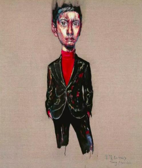 曾梵志,《肖像07-8-1》,2007