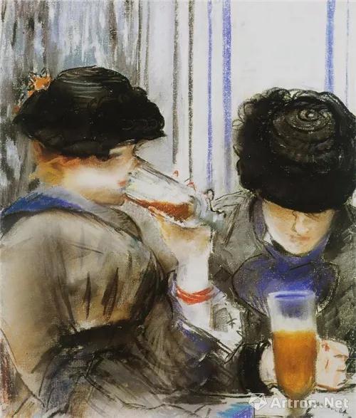 ▲《喝啤酒的两名妇女》