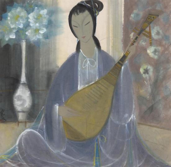 《琵琶仕女》,林风眠,中国画