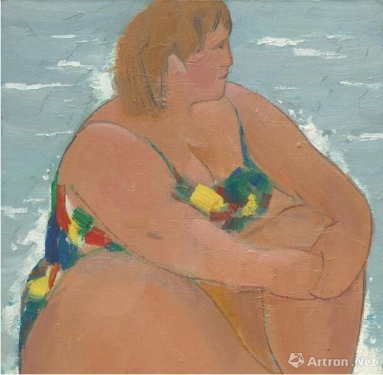 《岸》 70x60cm 2002年 油画、布面