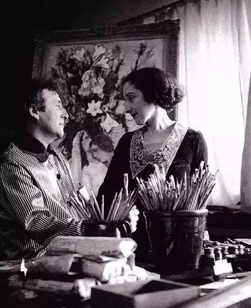 马克?夏加尔和妻子贝拉,1934年