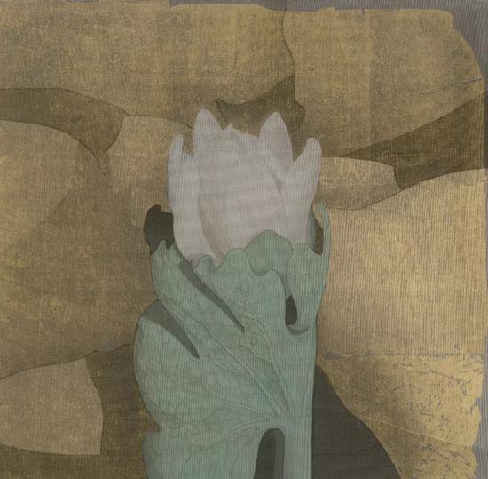 谢爱,《朝暮》,24x24cm,绢本,2018