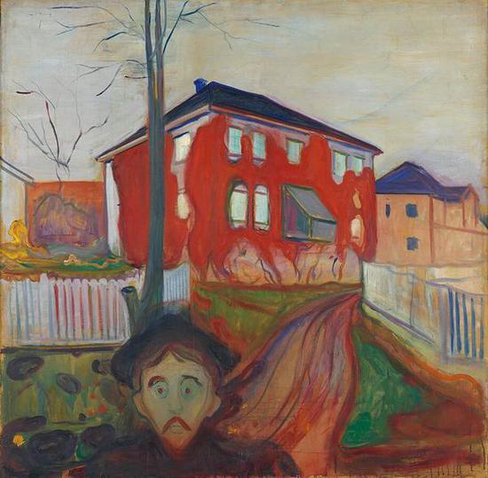 红色弗吉尼亚爬山虎 1898-1900年 油彩、油画