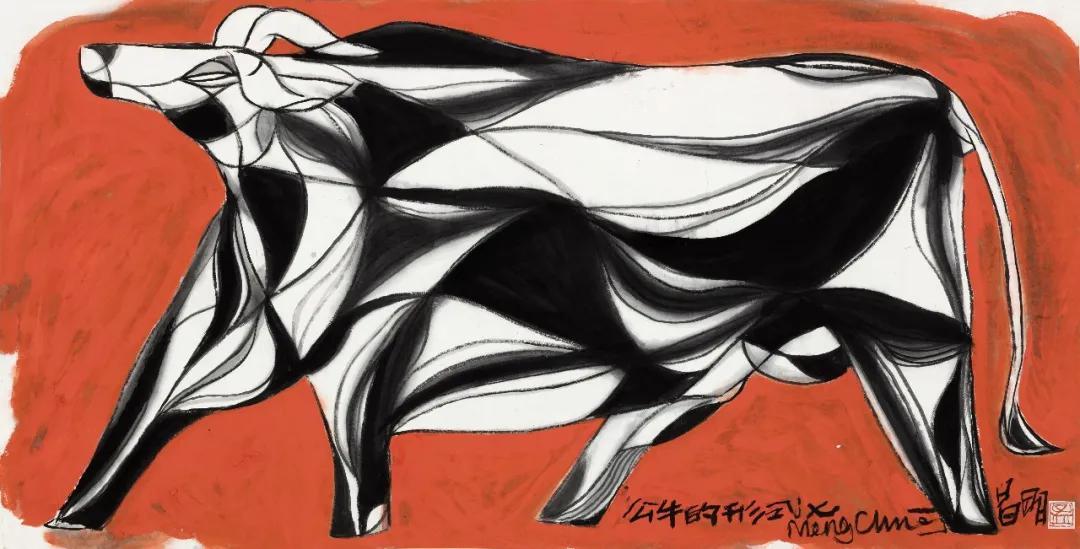 《公牛的形式之七》 68×138cm 2019年