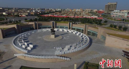 图为中国蒙古秘史博物馆的外景全景。 李强 摄