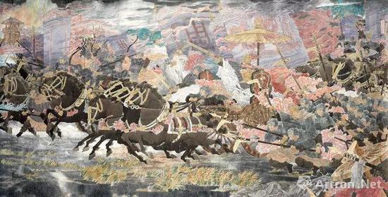 《武王伐纣—牧野之战》中国画