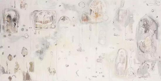 晨虂之二,纸本水墨,140x70cm,2019