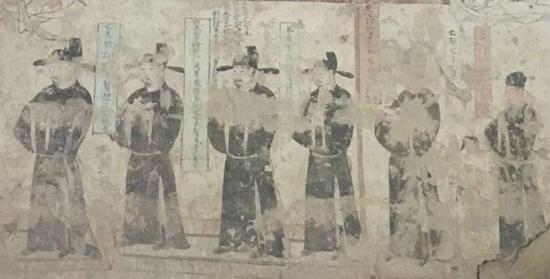 图7 石窟中包括家族死者的供养人,五代,公元10世纪