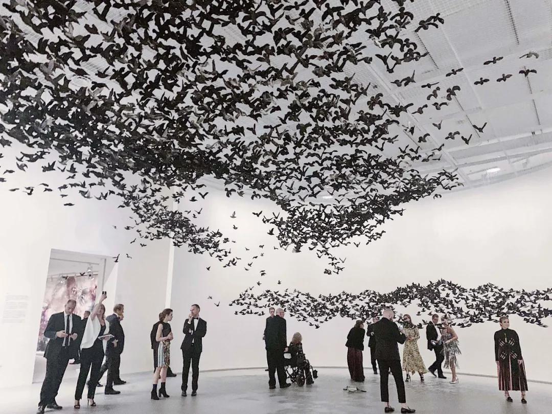 《永恒的衛士》與《瞬間的山水》預覽之夜,2019,維多利亞州國立美術館 攝影:蔡國強