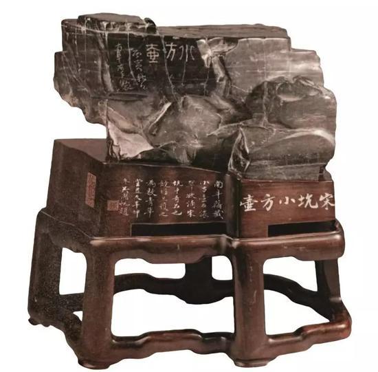 上博馆藏宋坑小方壶石身世传奇曾为高凤翰收藏
