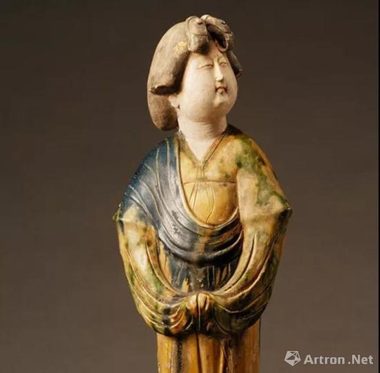 唐代女立俑,陕西历史博物馆藏