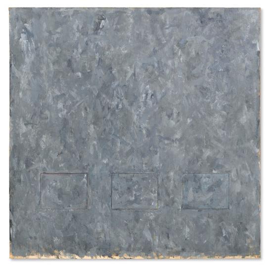 贾斯培·琼斯(b.1930) 1957年作 《灰色矩形》 152.4x152.4cm  2112.5万美元