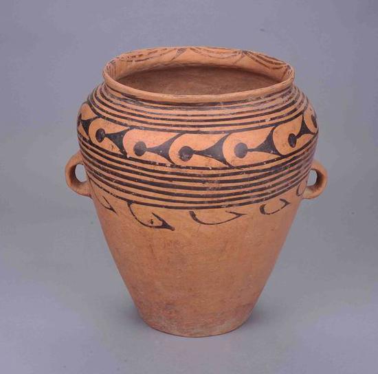 鱼纹彩陶瓮新石器时代 马家窑类型