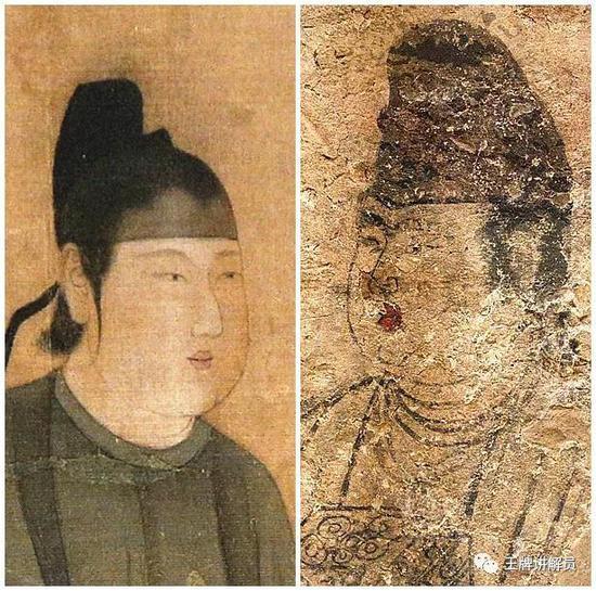 男装侍女图壁画,唐武惠妃墓出土,陕西历史博物馆藏