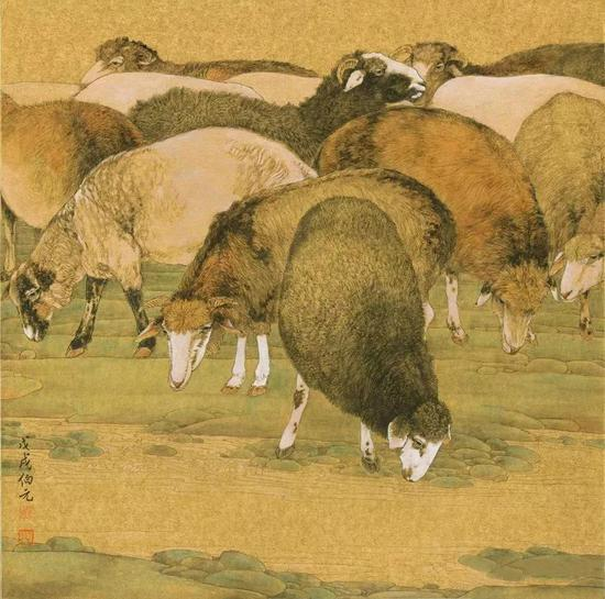 《索尔巴斯陶草原》之二 50cm×50cm
